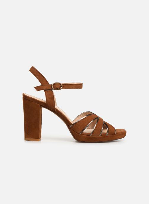 Sandales et nu-pieds Georgia Rose Lapouta Marron vue derrière