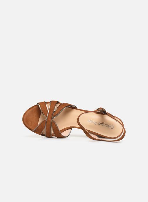 Sandales et nu-pieds Georgia Rose Lapouta Marron vue gauche
