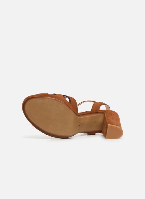 Sandales et nu-pieds Georgia Rose Lapouta Marron vue haut