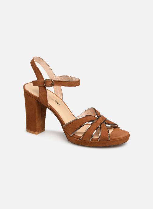 Sandales et nu-pieds Georgia Rose Lapouta Marron vue détail/paire
