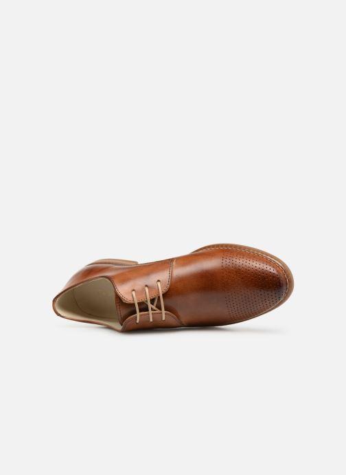 Chaussures à lacets Georgia Rose Narimane Marron vue gauche