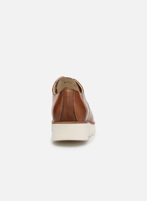 Chaussures à lacets Georgia Rose Nahema Marron vue droite