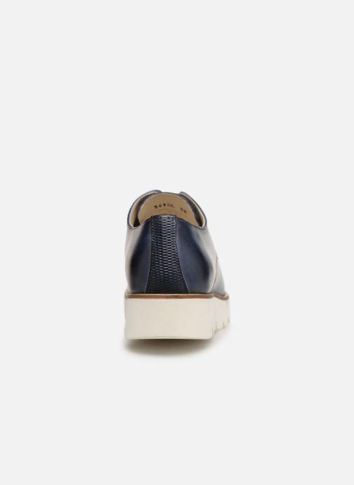Chaussures à lacets Georgia Rose Nahema Bleu vue droite