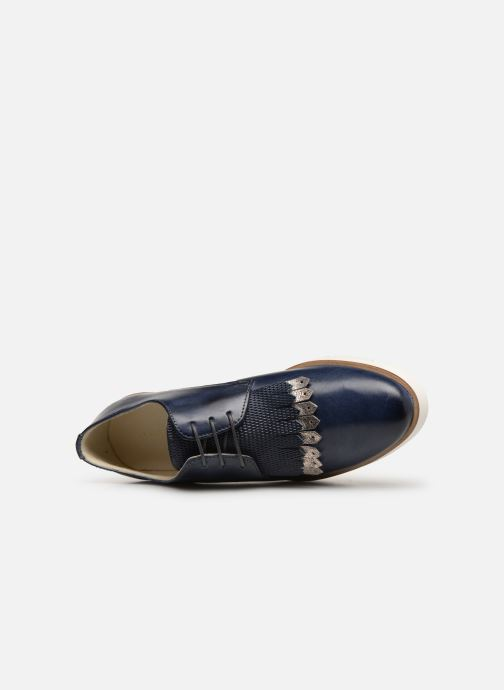 Zapatos con cordones Georgia Rose Nahema Azul vista lateral izquierda