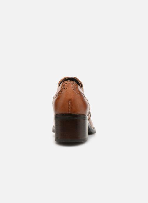 Chaussures à lacets Georgia Rose Noelly Marron vue droite