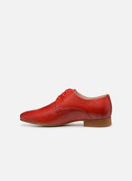 Zapatos con cordones Georgia Rose Nyoko Rojo vista de frente