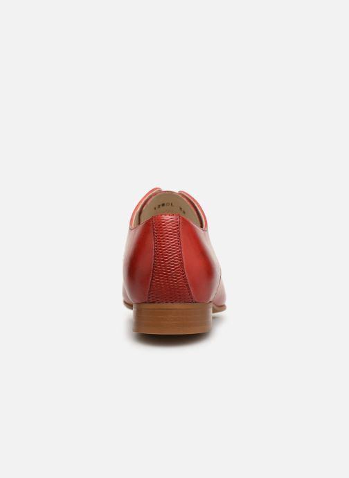 Zapatos con cordones Georgia Rose Nyoko Rojo vista lateral derecha