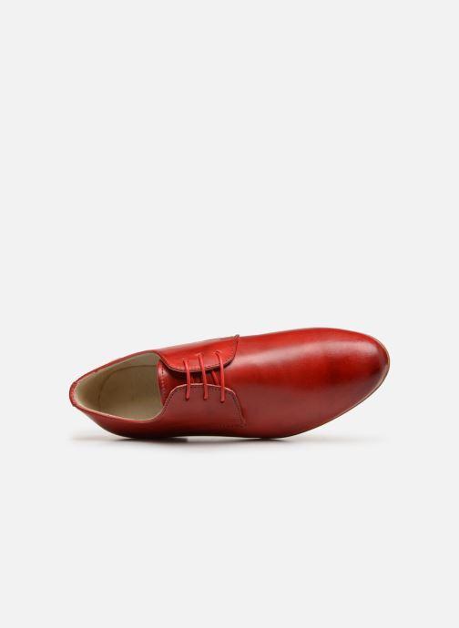 Zapatos con cordones Georgia Rose Nyoko Rojo vista lateral izquierda
