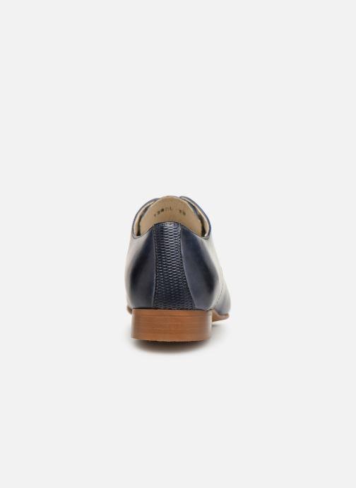 Zapatos con cordones Georgia Rose Nyoko Azul vista lateral derecha