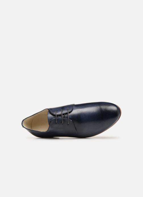Zapatos con cordones Georgia Rose Nyoko Azul vista lateral izquierda