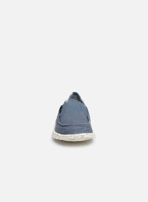 Baskets DUDE Farty Washed Bleu vue portées chaussures