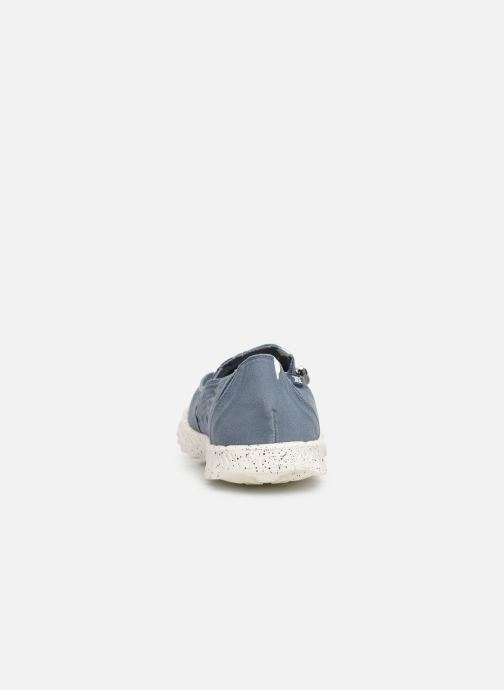 Baskets DUDE Farty Washed Bleu vue droite