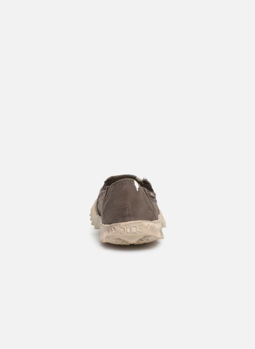 Baskets DUDE Farty Washed Marron vue droite