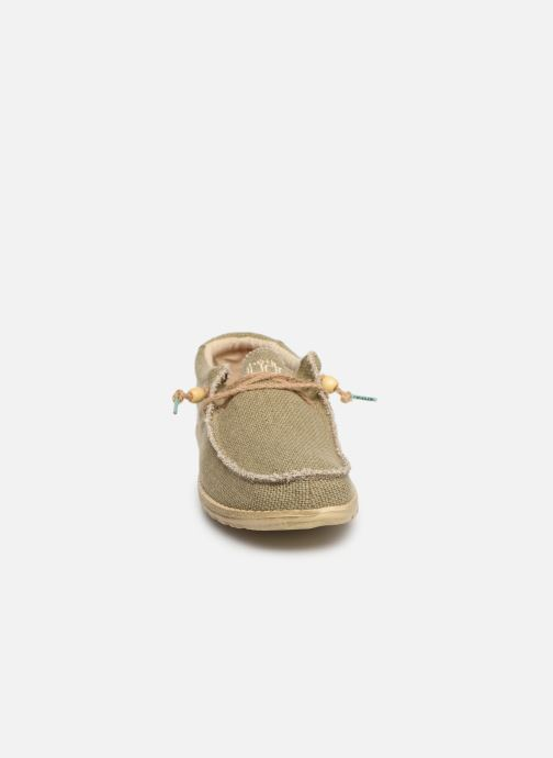 Sneakers DUDE Wally Natural Groen model