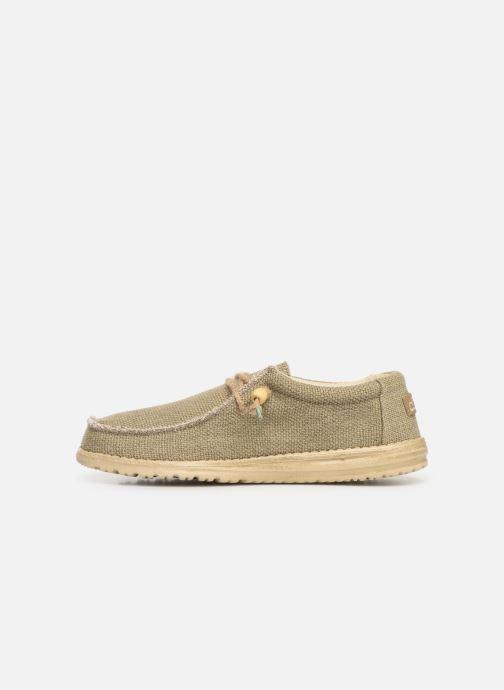 Sneakers DUDE Wally Natural Groen voorkant