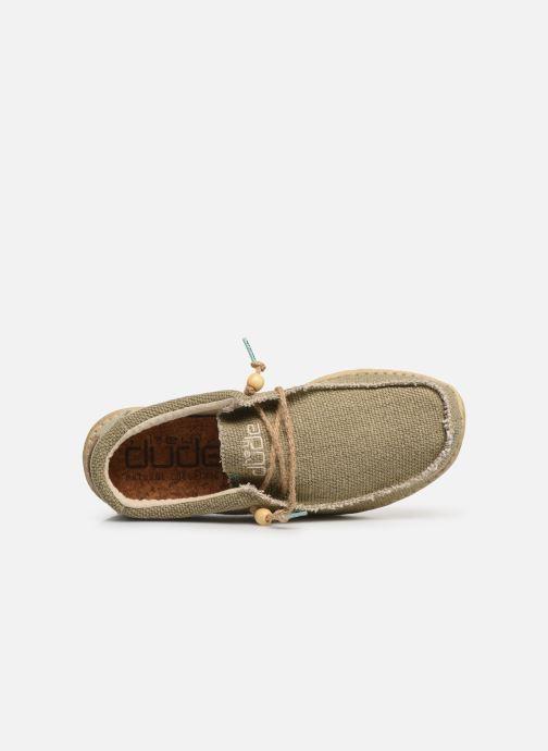Sneakers DUDE Wally Natural Groen links