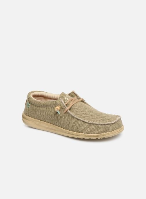 Trainers DUDE Wally Natural Green detailed view/ Pair view