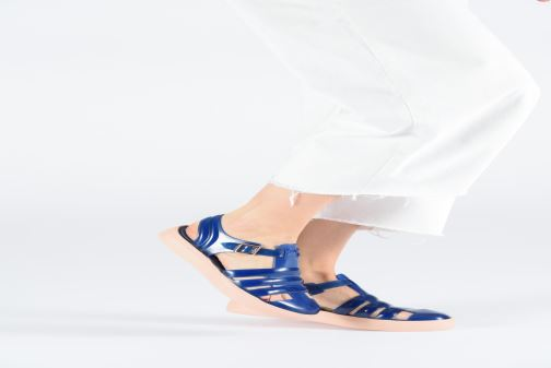 Sandals Lemon Jelly Crystal 10 Blue view from underneath / model view