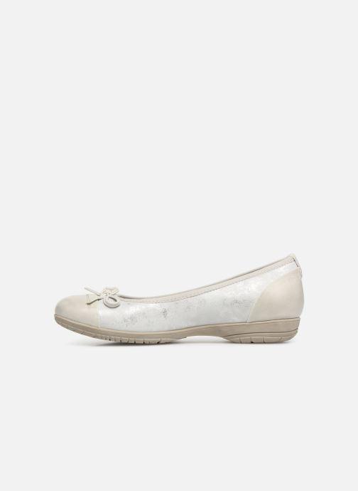 Ballerinas Jana shoes Emma weiß ansicht von vorne