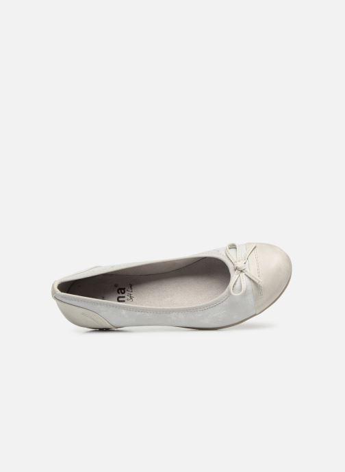 Ballerinas Jana shoes Emma weiß ansicht von links
