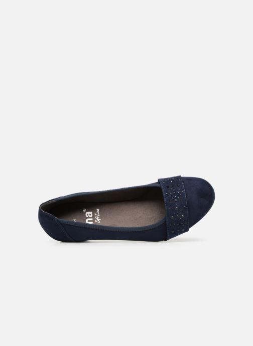 Ballerines Jana shoes Sarah Bleu vue gauche