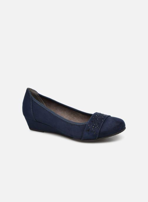 Ballerines Jana shoes Sarah Bleu vue détail/paire