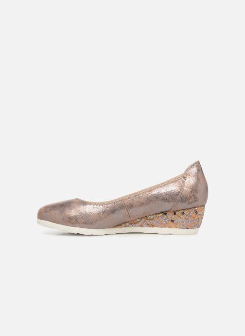 Escarpins Jana shoes Lina Or et bronze vue face