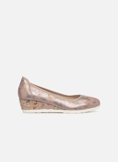 Escarpins Jana shoes Lina Or et bronze vue derrière