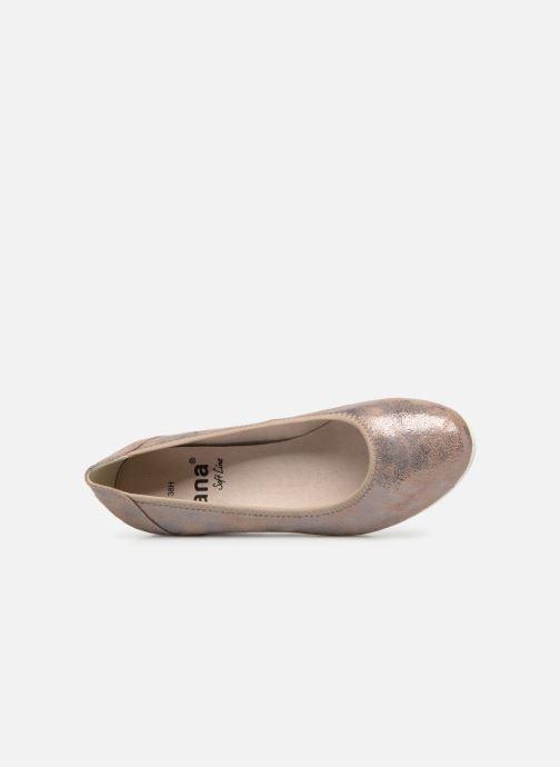 Escarpins Jana shoes Lina Or et bronze vue gauche