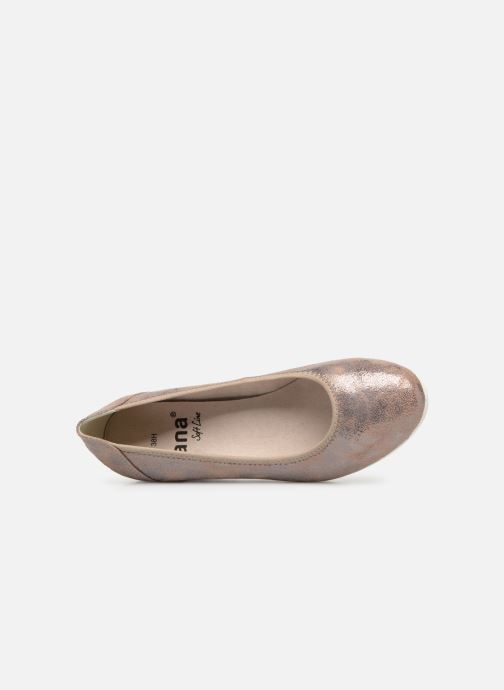 Pumps Jana shoes Lina gold/bronze ansicht von links