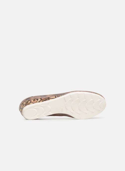 Escarpins Jana shoes Lina Or et bronze vue haut