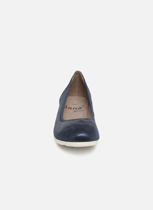High heels Jana shoes Lina Blue model view