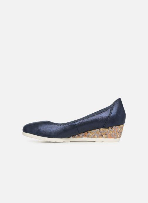 Pumps Jana shoes Lina blau ansicht von vorne