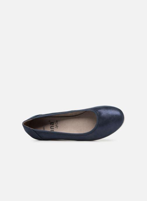Escarpins Jana shoes Lina Bleu vue gauche
