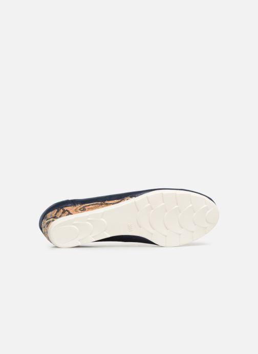 Escarpins Jana shoes Lina Bleu vue haut