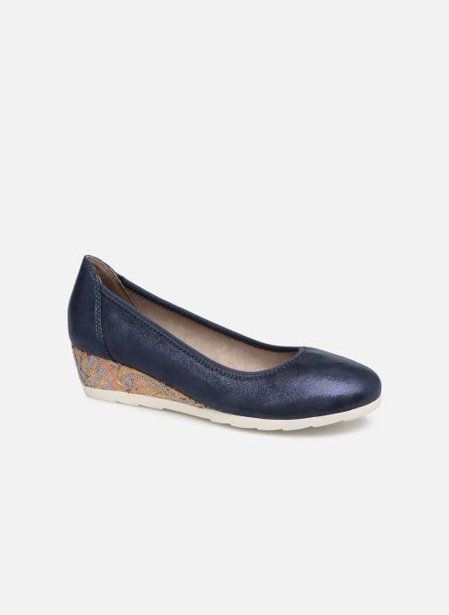 High heels Jana shoes Lina Blue detailed view/ Pair view
