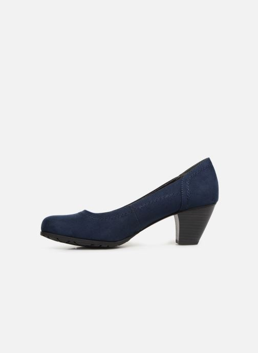 High heels Jana shoes Anna Blue front view