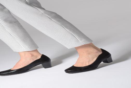 Escarpins Jana shoes Lucie Or et bronze vue bas / vue portée sac