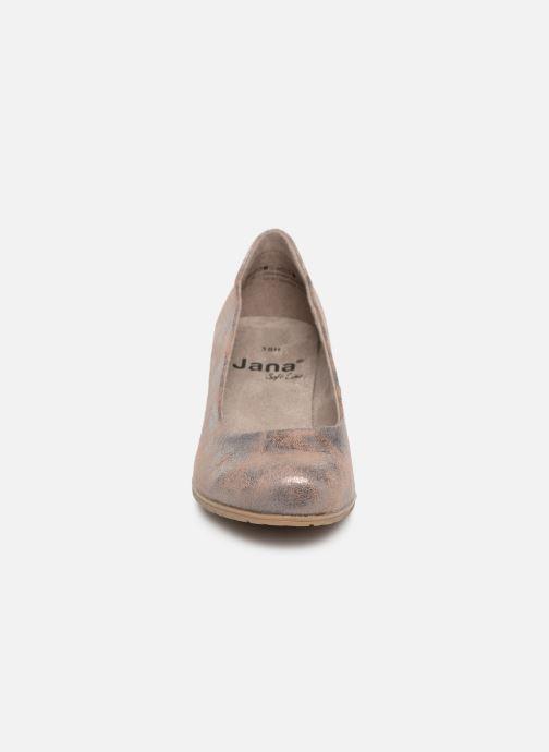 Escarpins Jana shoes Lucie Or et bronze vue portées chaussures