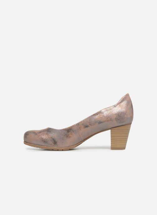 Escarpins Jana shoes Lucie Or et bronze vue face