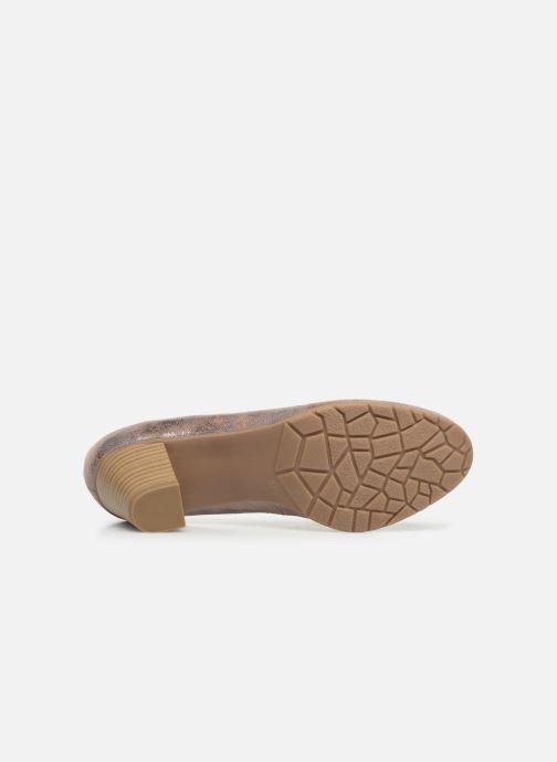 Escarpins Jana shoes Lucie Or et bronze vue haut