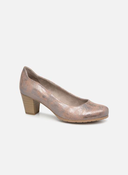 Escarpins Jana shoes Lucie Or et bronze vue détail/paire