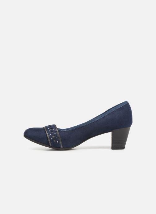 Pumps Jana shoes Maya blau ansicht von vorne