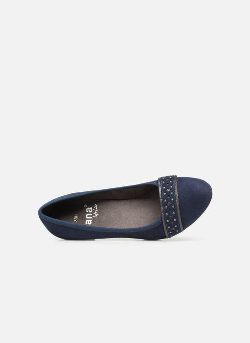 Pumps Jana shoes Maya blau ansicht von links