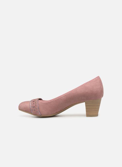 Zapatos de tacón Jana shoes Maya Rosa vista de frente