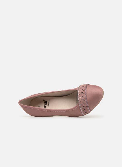 Zapatos de tacón Jana shoes Maya Rosa vista lateral izquierda