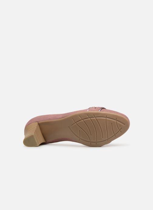 Zapatos de tacón Jana shoes Maya Rosa vista de arriba