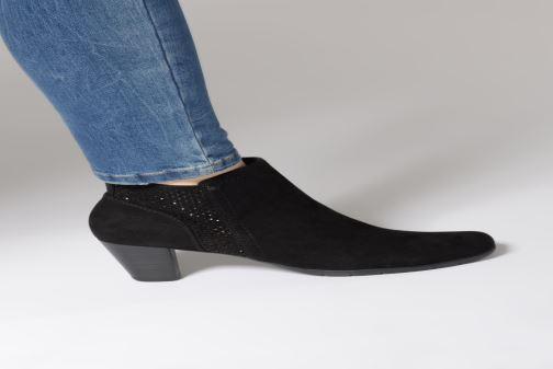 Bottines et boots Jana shoes Esther Noir vue bas / vue portée sac