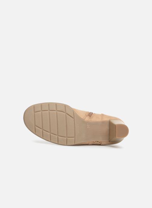 Bottines et boots Jana shoes Esther Beige vue haut