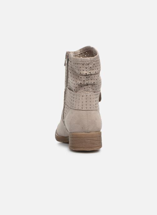 Botines  Jana shoes Suzanne Beige vista lateral derecha